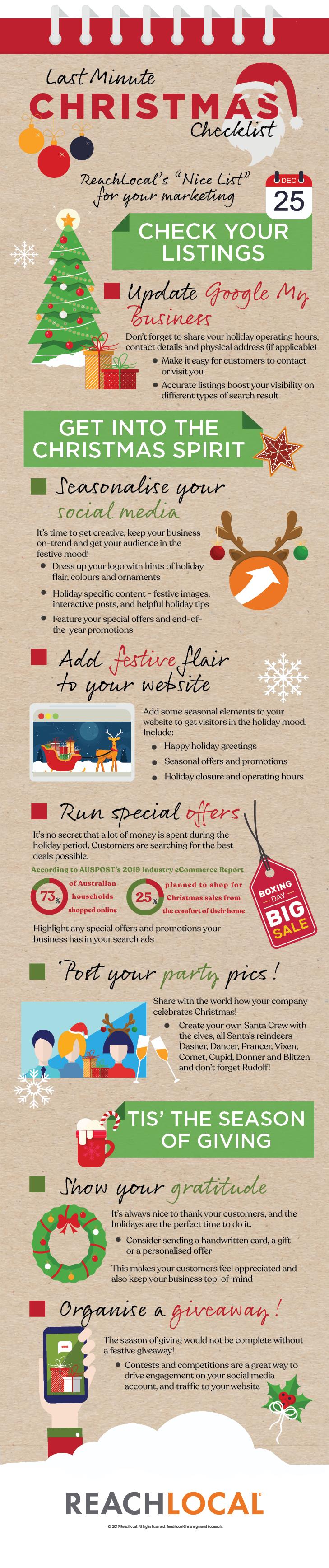 Last Minute Christmas Marketing Checklist