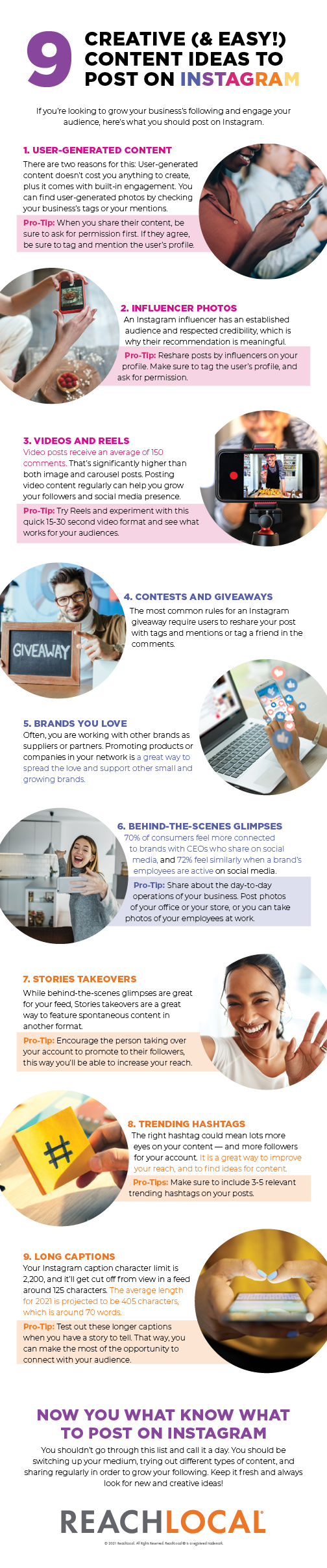 9 Creative (& Easy!) Content Ideas to Post on Instagram